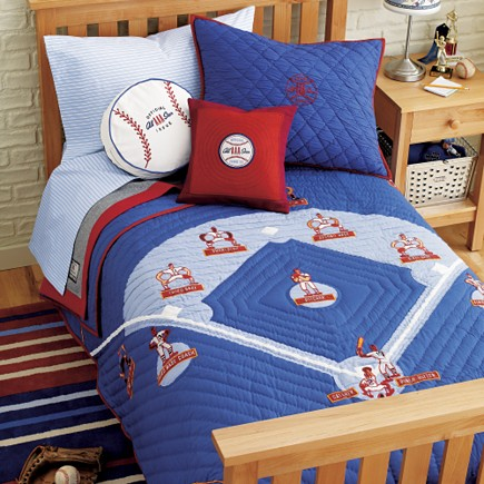 Baseball Themed Kids Bedroom Bedding Set