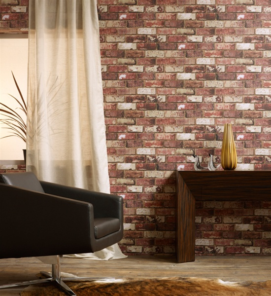 Wallpapers designer wallpaper wall coverings for home decor home interior decorating tips for Brick wallpaper interior design